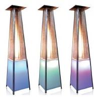 Led Illuminated Pyramid Outdoor Heater
